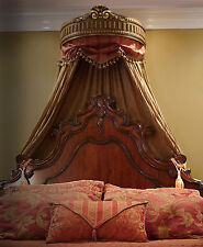 Elegant Gold Handcrafted Bed Crown - Real Wood - Canopy - Teester