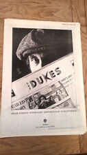 The DUKES (Jimmy McCulloch Wings) UK Poster size Press ADVERT 16x12 inches