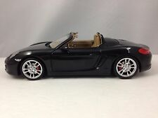 Minichamps 2012 Porsche Boxster S (981) Black w/ Tan Interior Diecast Model 1/18