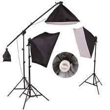 Nueva Foto De Estudio continuo suave caja Lighting Kit Boom Brazo Luz Pack
