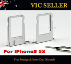 New Replacement Nano SIM Card Tray Holder Slot For iPhone 5 Silver +Free Pin
