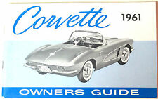GM 1961 Chevy Corvette Owner's Manual (o) #3784033