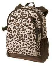 GYMBOREE BROWN LEOPARD SKIN PRINTED BACKPACK w/ CLIPS NWT