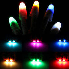 2PCS Light Up Thumbs Fingers Magic Trick Thumbs Tips Evening Night Toy NEW