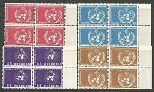 SWITZERLAND. 1973. Meteorological Organisation. SG: LM10/13. MNH 4 Blocks.
