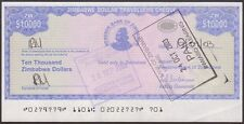 TWN - ZIMBABWE 17 - 10000 D. 2003 aXF Emergency Issue
