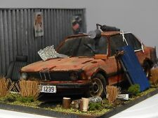 "1/18 BMW 318 E21 1975 BARN FIND DIORAMA CODE 3 JUNK YARD ""ANDREW GREEN"""