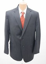 Sewell Mens Pinstripe Wool Two Piece Suit Charcoal Size 42R 36R NWT Retail $595