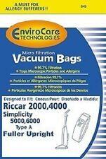 Riccar 2000 , 4000 & Simplicity Type A  Vacuum Bags (6pk)