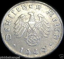 German Third Reich - German 1940D Reichspfennig Coin - Real World War 2 Coin