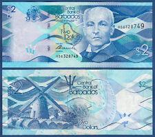 BARBADOS  2 Dollars 2013 UNC  P. 73