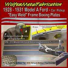 """Model A Ford Frame, 1/8"""" Easy Weld Boxing Plates 28-31"""