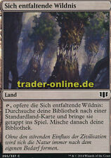 4x Sich entfaltende Wildnis (Evolving Wilds) Commander 2014 Magic
