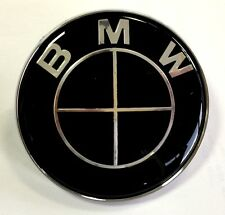 For BMW Black Boot Bonnet Badge Emblem Roundel 82mm - 1 3 5 6 7 X Z