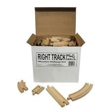 Wooden Train Track 100 Piece Pack Compatible By Right Track FREE SHIPPING XTS