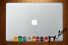 Macbook Air Pro Skin Sticker Decal - Cartoon Super Hero Team 9  #CMAC051