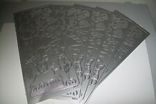 5 SHEETS FASHION/CLOTHES STICKERS SILVER 23X10 CM NEW NEW