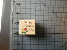 Happy Mothers Day Wood Mounted Stamp NEW