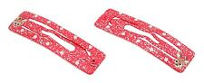 Zest 2 Christmas Rudolph Reindeer Glittered Rectangle Hair Slides Clips Red