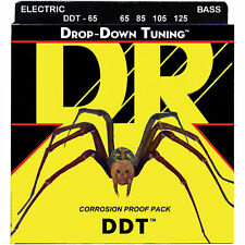 DR DDT-65  DROP DOWN TUNING BASS STRINGS, EXTRA HEAVY GAUGE 4's - 65-125