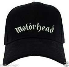 MOTORHEAD EMBROIDERED CAP HAT THRASH SPEED HEAVY PUNK METAL WARFARE Metal Negro