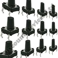 50x 6x6x8mm Momentary Tactile Mini/Micro/Small PCB Push Button Switch SPST