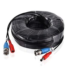 30M 100FT 2 in 1 VIDEO POWER BNC CABLE FOR AHD CCTV SECURITY CAMERA&DVR UK