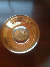 """5x2"""" Small Vintage Amber Carnival Glass Iridescent Bowl - Mayo, Candy, Nuts"""