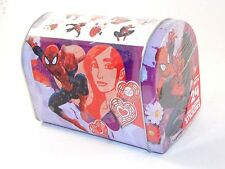 6 IN Red White Purple Pink Spider Man Valentines Day Container Party Decoration