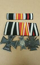 WW1 German Medal Bar, Iron Cross and Baden Merit Medal