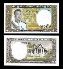 LAOS LAO 20 KIP 1963 P 11 UNC