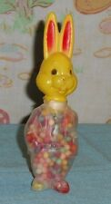 vintage E. ROSEN Easter plastic BUNNY RABBIT CANDY HOLDER container