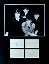 THE BEATLES signed autographs PHOTO DISPLAY George Harrison John Lennon Ringo