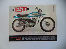 advertising Pubblicità 1974 MOTO TESTI TRAIL KING P6 SS 48