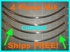 TRIM MOLDING PROTECTOR (4 piece kit) 8'' CHROME  DOOR EDGE GUARDS fits: (Honda)