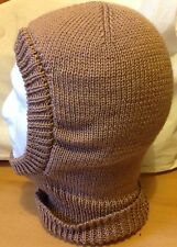 Men's Knitted Balaclava In Mink Soft And Warm D.K Yarn Hand Made