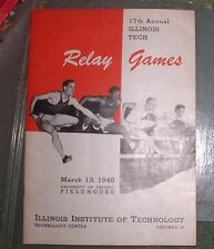 1948 RELAY GAMES 17TH ANNUAL ILLINOIS INSTITUTE OF TECH TECHNOLOGY PROGRAM
