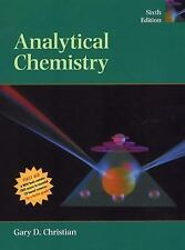 Analytical Chemistry by Gary D. Christian (2003, Hardcover, Revised)