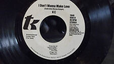KC WLP PROMO ON T.K RECORDS I DONT WANT TO MAKE LOVE X2 HIALEAH FLORIDA.RARE !..