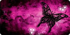 Personalized Custom License Plate Auto Car Tag Purple Butterfly