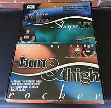Body by Jake Deluxe Upper Body Shape Up & Bun Thigh Rocker Accessory Kits VHS