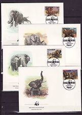 Uganda 1983 - FDC - Dieren / Animals (Elephants) WWF/WNF