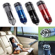 Portable Auto Car 12V Fresh Air Ionic Purifier Oxygen Bar Ozone Ionizer Cleaner