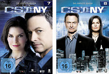 12 DVDs * CSI : NY - NEW YORK - STAFFEL / SEASON 7 + 8 IM SET # NEU OVP §