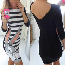 Womens Tunic OL Dress Ladies Party Evening Club Top Bodycon Playsuit UK 6-16