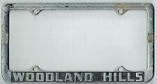 1950's Woodland Hills California HOMETOWN PRIDE Vintage City License Plate Frame