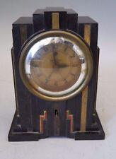 1930s Vintage ART DECO Warren Telechron Bakelite Skyscraper Clock WORKING