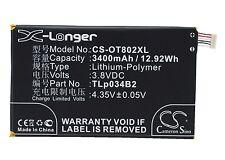 3.8V batterie pour Alcatel A995L Hero N3 One Touch 8020 TLp034B1 premium cellule