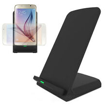 3-Coils Qi Wireless Charger Charging Stand Dock For Samsung Galaxy S7 S7 Edge UK