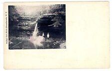 Broadheads NY -BRIDAL VEIL FALLS- Postcard Ashokan Reservoir Town/Shokan